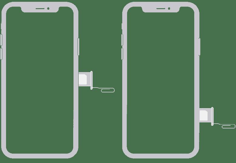 iPhone X ja XR SIM-kortti alustan poistaminen